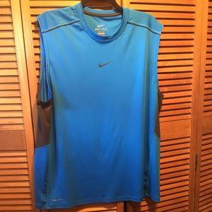 Nike Dri-Fit Blue/Gray Sleeveless Performance Top